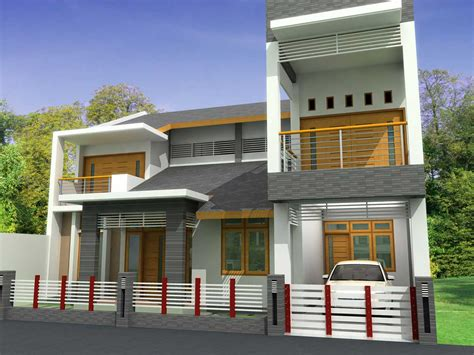 Home Terrace : Modern Homes Front Views Terrace