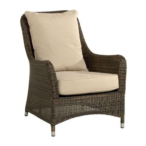 fauteuil de jardin confortable en r 233 sine tress 233 e brin d ouest
