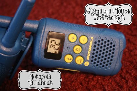 staying in touch while the play with motorola talkabout the mount 6 pack
