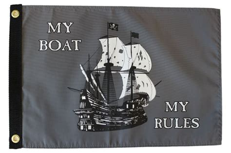 Boat Flags Rules my boat my rules flag flagline