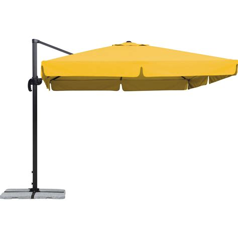 parasol excentr 233 rhodos jaune carr 233 l 300 x l 300 cm leroy merlin