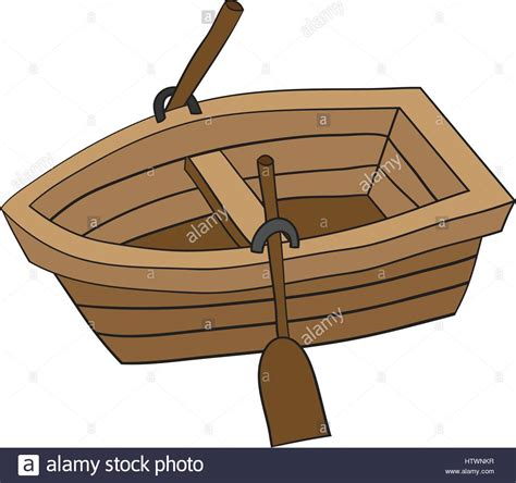 Cartoon Wood Boat by Illustration Of Cute Cartoon Doodle Of Wooden Row Boat