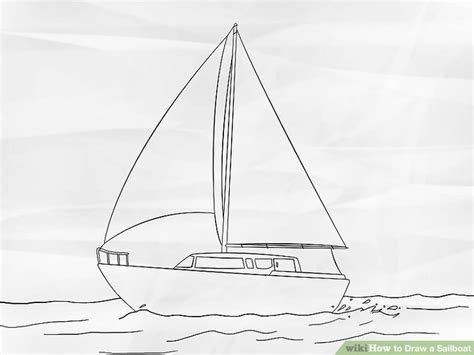 How To Draw A Old Boat by How To Draw A Sailboat 7 Steps With Pictures Wikihow