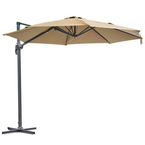 10 hanging roma offset umbrella outdoor patio sun shade cantilever crank canopy ebay