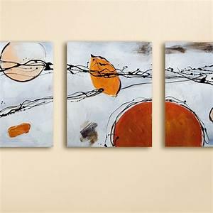 Bild 3 Teilig Auf Leinwand : bild 3 teilig gem lde asstrato handgemalt leinwand wanddekoration 120cm x 50 cm x 2 50 cm aby ~ Markanthonyermac.com Haus und Dekorationen
