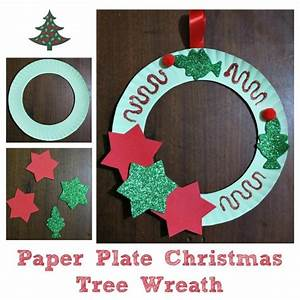 Making a Paper Plate Christmas Tree Wreath | ThriftyFun