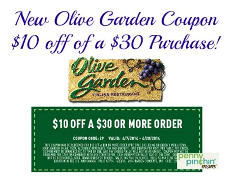 save 10 a 30 purchase at olive garden