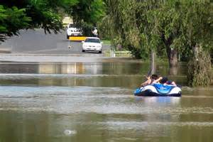 Inflatable Boats Geelong by Residents In An Inflatable Boat Paddle Down A Flooded