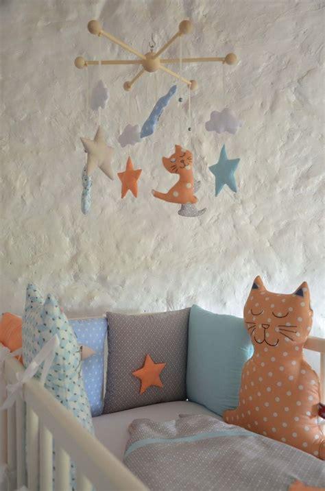 tour de lit chat brod 233 233 toile original pour b 233 b 233 mixte linge de lit enfants par shanouk