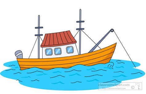 Fishing Boat Art by Boats And Ships Clipart Fishing Boat Clipart 935
