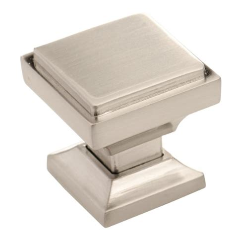 southern brushed nickel square cabinet knobs pack