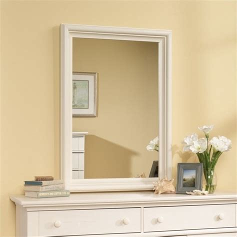 sauder harbor view dresser and mirror sauder harbor view mirror set antiqued white dresser ebay