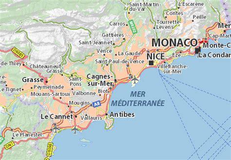 carte d 233 taill 233 e cagnes sur mer plan cagnes sur mer viamichelin