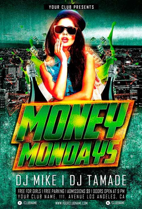 Money Monday Party Flyer Template For Photoshop