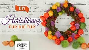 Deko Drachen Herbst : diy farbenfoher herbst t rkranz aus naturmaterial how to deko kitchen youtube ~ Markanthonyermac.com Haus und Dekorationen