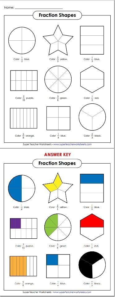 Number Names Worksheets » Fraction Shapes Printable  Free Printable Worksheets For Pre School