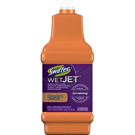 swiffer wetjet wood floor cleaner solution refill inviting home scent 42 2 fl oz walmart