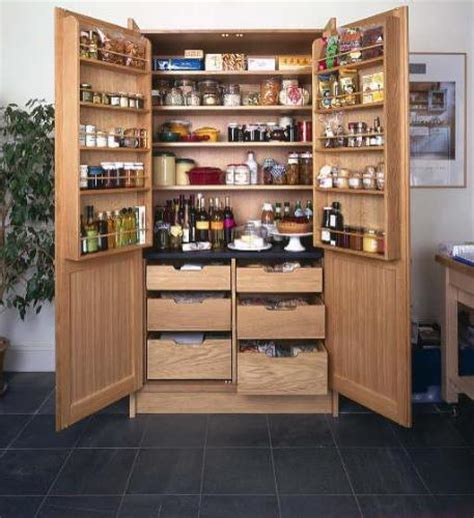 freestanding pantry for solution to storage problems modern home design gallery