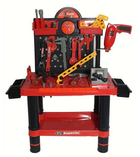 54 Pcs Kids Tool Play Set Workbench Ebeezcouk