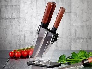 Magnetbrett Für Messer : tokiokitchenware aufbewahrung f r messer messerblock aus acrylglas f r 4 messer messerhalter ~ Markanthonyermac.com Haus und Dekorationen