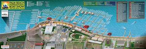 Palm Beach International Boat Show Map by Custom Event Map International Boat Show Illustrated Map