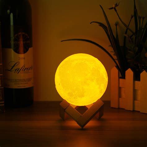 10cm 3d Magical Two Tone Moon Lamp Usb Charging Luna Led