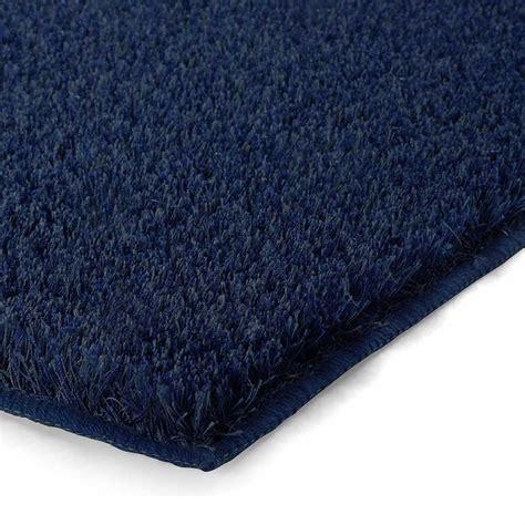 tapis de salle de bain de luxe bleu marine