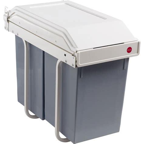 poubelle de cuisine manuelle hailo plastique blanc cr 232 me 30 l leroy merlin