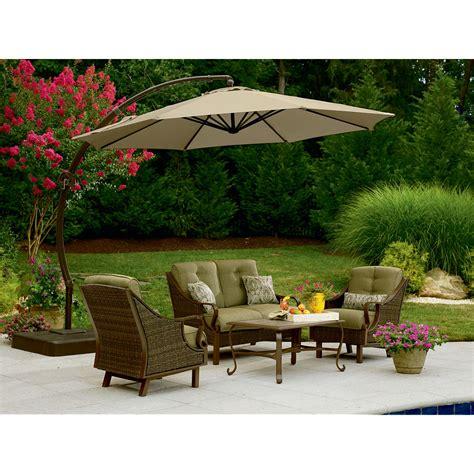 garden oasis offset umbrella 10ft outdoor living patio furniture patio umbrellas bases