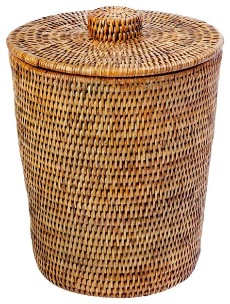 wicker bathroom trash can with lid bathroom bevrani