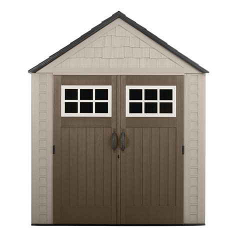 rubbermaid garden sheds home depot rubbermaid big max 7 ft x 7 ft storage shed 1887154