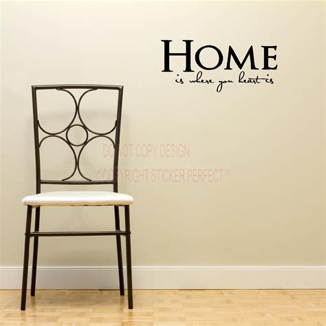 home is where your is house decor inspirational vinyl wall decal quotes sayings