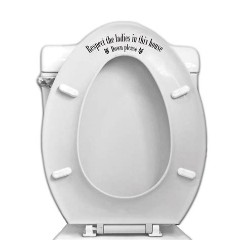 respect the toilet seat vinyl decal for bathroom toilet vinyl revolution