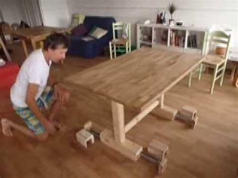 table transformable haute et basse