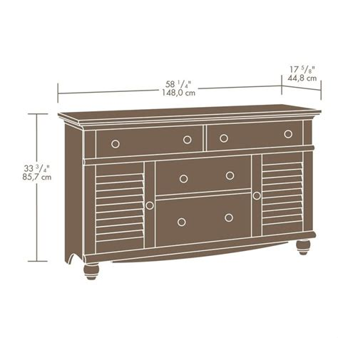 dresser in antiqued white 158016