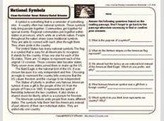 National Symbols Worksheet for 2nd 3rd Grade Lesson Planet