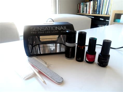 100 sensationail led l with gelish goose