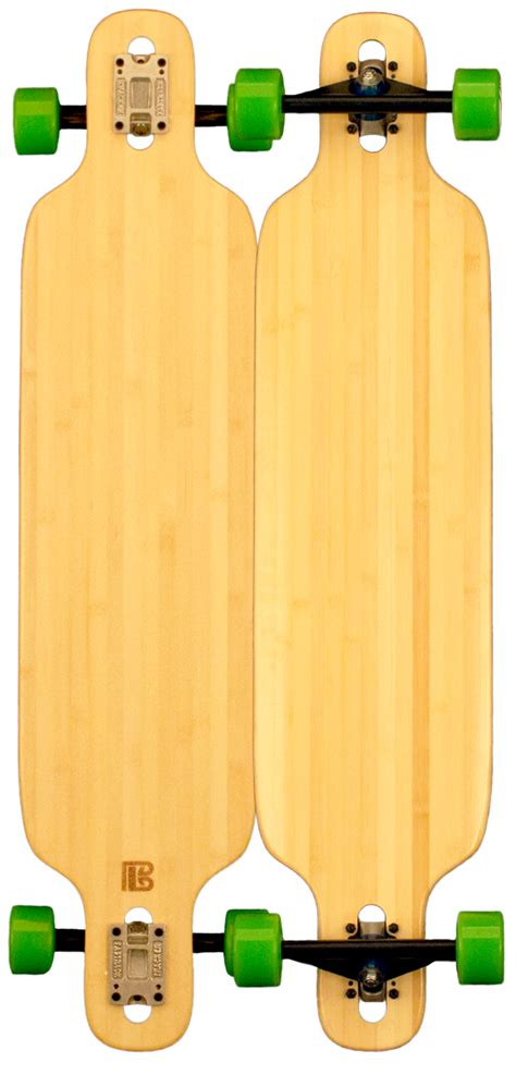 bamboo tip drop through blank skateboard groundswell supply