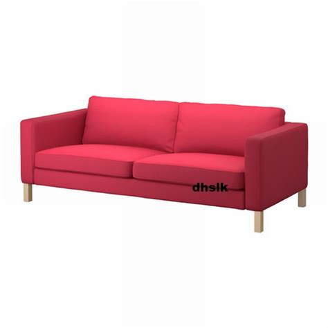 ikea karlstad sofa slipcover 3 seat cover sivik pink