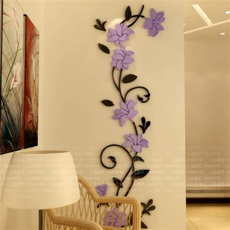 aliexpress buy flower entranceway tv background wall stickers modern decoration
