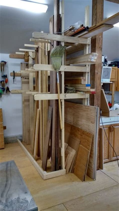 lumber storage rack by unclearthur lumberjocks woodworking community