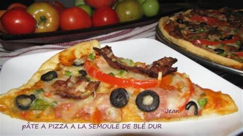 p 226 te a pizza a la semoule de bl 233 de nell recettes