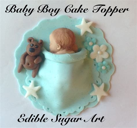 baby boy cake toppers fondant baby boy cake topper baby shower baptism