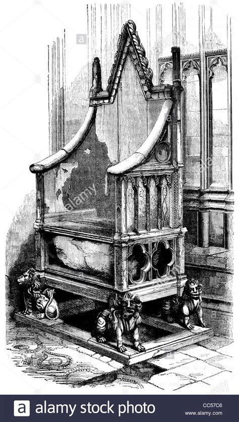 king edward s chair st coronation throne monarch king stock photo royalty free