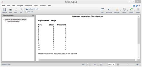 balanced incomplete block design experimental design software ncss statistical software