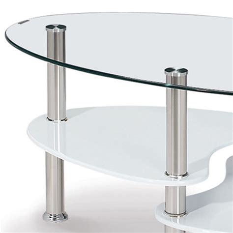 deco in table basse blanche en verre trempe ovale opunake tb opunake blanche