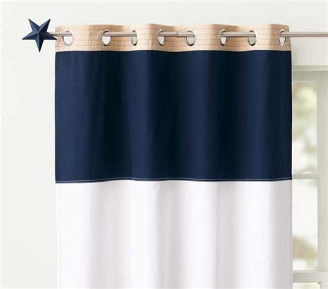 Navy Striped Curtain Panels by Baby Boy Pottery Barn Nursery Home Designer