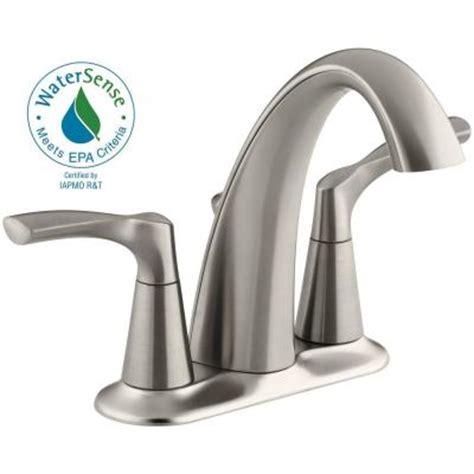 kohler mistos 4 in centerset 2 handle bathroom faucet in