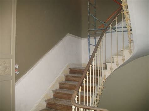 peinture murale faux marbre blanc r 233 novation de l escalier et de la re mural et