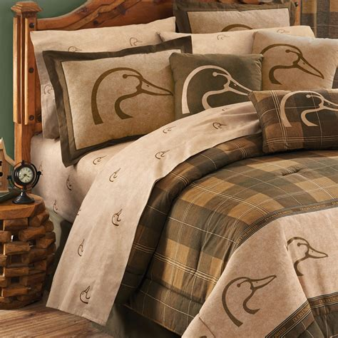 ducks unlimited plaid sheet sets